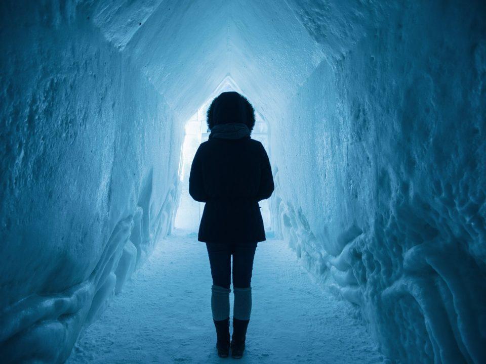 walking in tunnel
